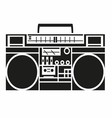 Vintage radio cassette player vector