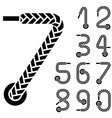 Black shoe lace numbers vector