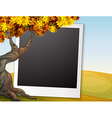 Frame with autumn background vector