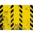 Grungy and worn hazard stripes vector