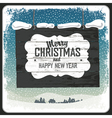 Merry christmas wooden sign vector