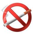 The sign no smoking vector
