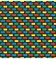 Old school 8 bit brick arcade game style vector