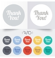 Thank you sign icon customer service symbol vector