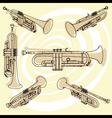 Trumpets set vector