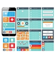 Modern ui flat design web elements vector