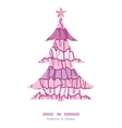 Pink ruffle fabric stripes christmas tree vector