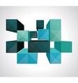 Colorful 3d cubes background - design vector