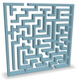 Upright blue maze vector