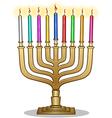 Hanukkah lamp hanukkiah vector