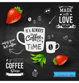 It is coffee time chalkboard background realistic vector