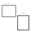 Two blank frames on a white vector
