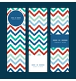 Colorful ikat chevron vertical banners set pattern vector