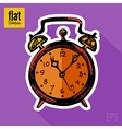 Sketch style hand drawn alarm clock flat icon vector