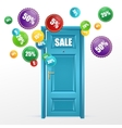 Door and sale labels vector