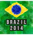 Brazil 2014 football poster hexagon background vector