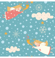 Angels seamless pattern vector