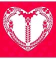 Heart shape of decorative elements vector