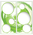 Blank round web template on green grunge vector