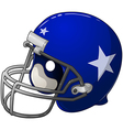 Blue football helmet vector