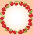 Card for your text set red strawberries on a white vector