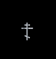 Christianity orthodox cross vector