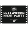 Just halloween party poster vector