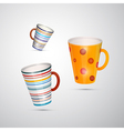 Cups isolated on white background vector