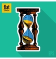 Sketch style hand drawn clock flat icon vector