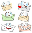 Funny mail cartoon vector
