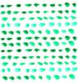 Watercolor green drops over white vector