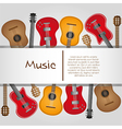 Guitar background with stripe for text vector