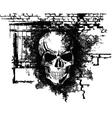 Human halloween skull vector
