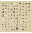 Hand draw doodle icon set vector