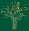 Motherboard tree vector