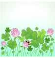 Background for stpatricks day with clovers and vector