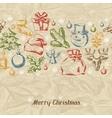 Merry christmas hand drawn invitation card vector