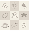 Sheep set vector