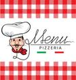 Italian restaurant menu vector