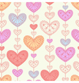 Seamless background with multicolored hearts vector