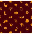 Autumn icons orange seamless pattern eps10 vector
