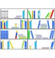 Bookshelf seamless background vector