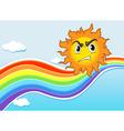 A mad sun near the rainbow vector