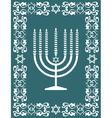Jewish hanukkah menorah - holiday design vector