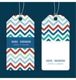 Colorful ikat chevron vertical stripe frame vector