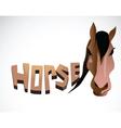 Horse face color vector