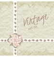 Vintage invitation with ornate detailed flower vector