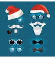 Santa klaus fashion set hipster style vector