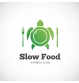 Slow food concept symbol icon or logo template vector