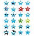 Smiley stars vector